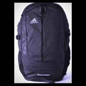 96d3d828f adidas Bags | Synth Leather Backpack Black | Poshmark